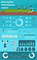 Esporte de pessoas infográfico vetor