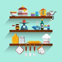 Conjunto de prateleiras de cozinha