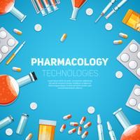 Ilustração de tecnologias de farmacologia vetor