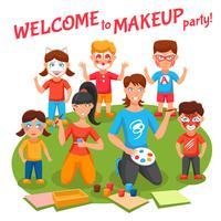 Ilustração de festa de maquiagem vetor