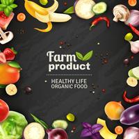 Frutas e legumes quadro de giz