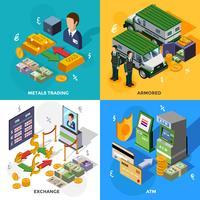 Banco 2x2 Isometric Design Concept