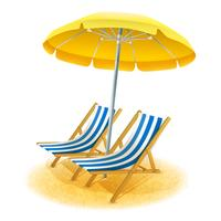 Ilustração de resort de praia