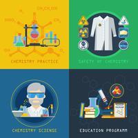 Química 2x2 Design Concept Set vetor