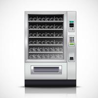 Máquina de venda automática moderna realista vetor