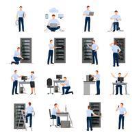 Conjunto de ícones do administrador do sistema