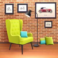 Poster interior realista da cadeira