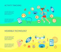 Conjunto de composições de tecnologia wearable