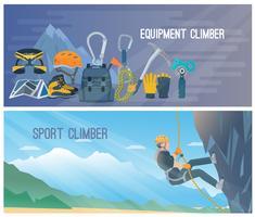 Ilustração de Banner de escalada