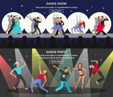 Banner plano de dança vetor