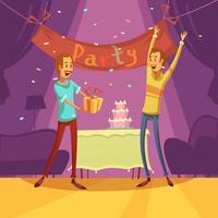 Amigos e festa ilustração vetor