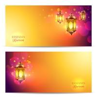 Conjunto de Banner do Ramadã vetor