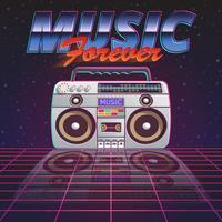 Cartaz da música para sempre vetor
