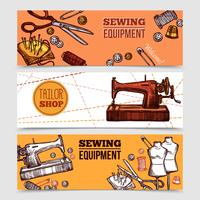 Banners de costura vintage