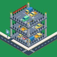 Conceito de estacionamento de carros vetor