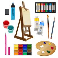 Elementos decorativos isolados artísticos vetor