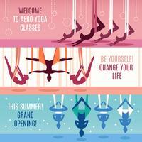Conjunto de banner horizontal Aero Yoga vetor