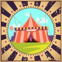 Cartaz de desenhos animados de circo vetor