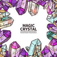 Ilustração de mão desenhada de cristais vetor