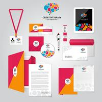 Cartaz de identidade corporativa de relacionamento social