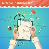 Ilustração dos desenhos animados de medicina vetor