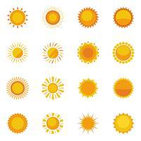 Coleção de ícones do sol vetor