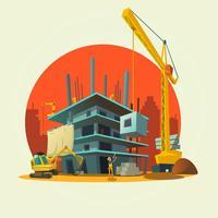 Ilustração dos desenhos animados de construção