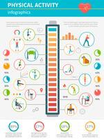 Infográfico de atividade física vetor