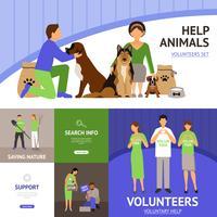 Voluntários set plana