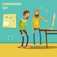 Coworking conjunto ilustração