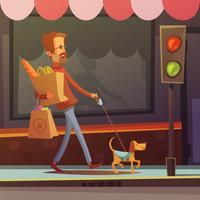 Ilustração de homem cego