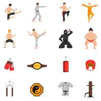 Conjunto de ícones de artes marciais