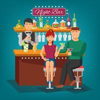 Conceito de design bar noite