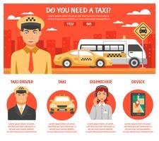 Infografia de serviço de táxi