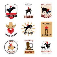 Emblemas conjunto de rodeio