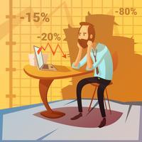 Ilustração de falha de negócios