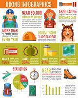 Conjunto de infográficos de caminhadas vetor
