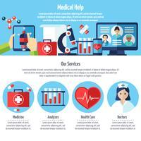 Web site médico vetor