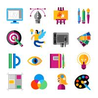 Conjunto de ícones criativos de designer vetor