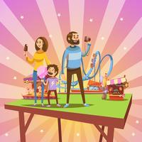 Desenho de parque de diversões