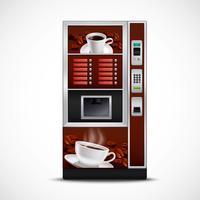 Máquina de venda automática de café realista vetor
