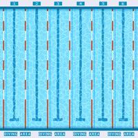 Pictograma plana de vista superior de piscina vetor