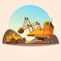 Ilustração do conceito de mineração vetor