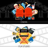 Conjunto de Banners de Cinema
