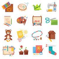 Conjunto de ícones de hobbies vetor