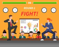 Símbolos de competição de negócios Banner de luta