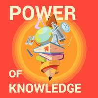 Cartaz de desenho animado de educação