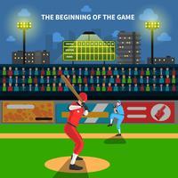 Ilustração do jogo de beisebol