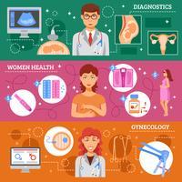 Conjunto de banner de obstetrícia