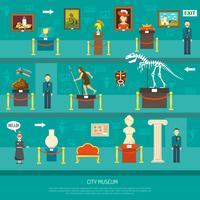 Exposição do Museu da Cidade vetor